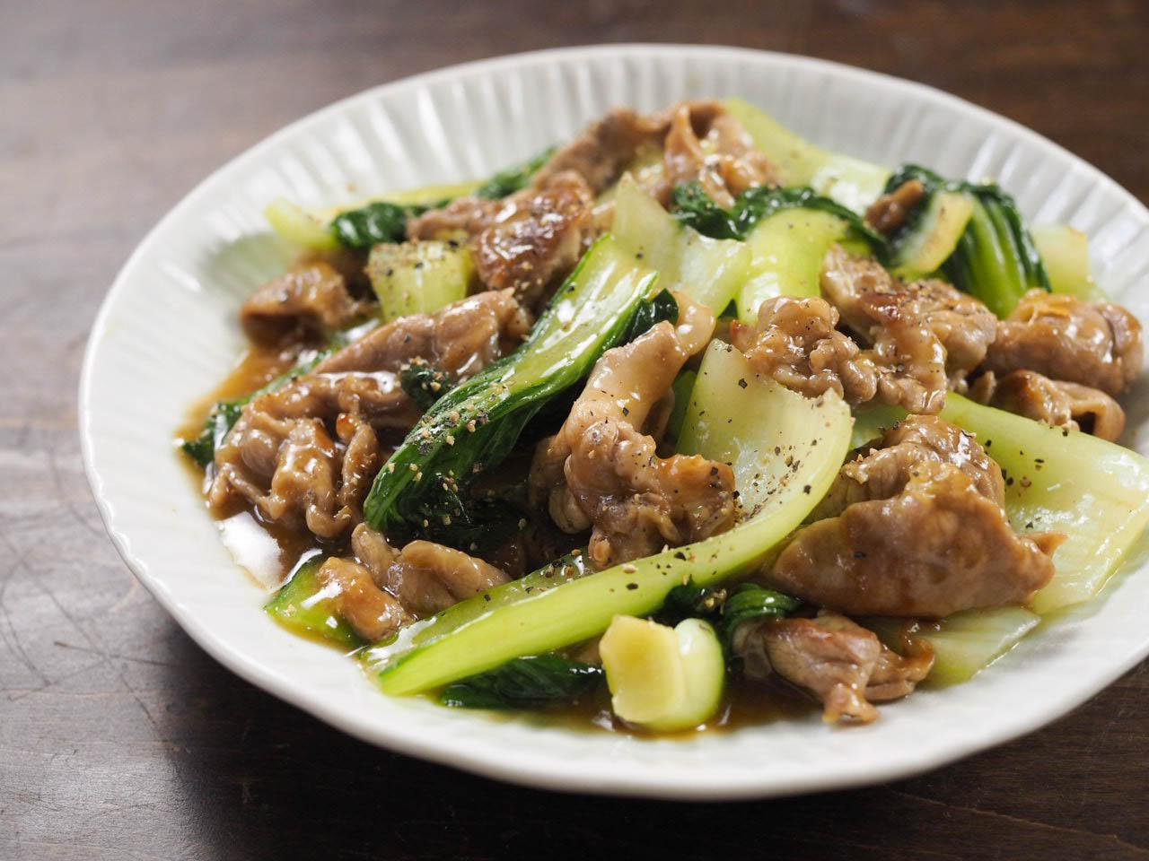 チンゲン 菜 豚肉